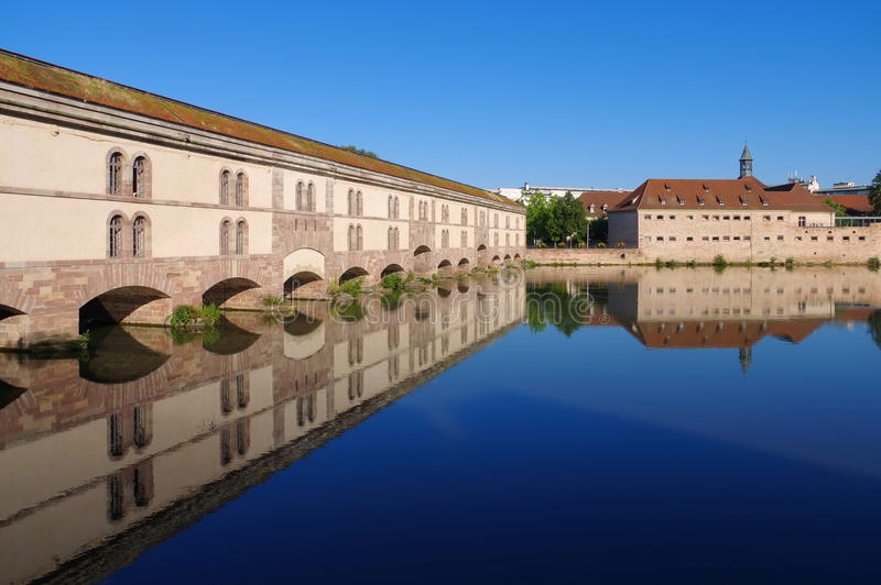 Barrage Vauban in Strasbourg, Alsace. France royalty free stock photography