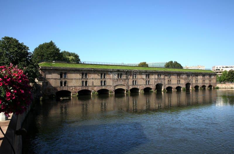 Barrage Vauban in Strasbourg, France. Barrage Vauban in Strasbourg - dame in Petite-France, Alsace, France royalty free stock photography