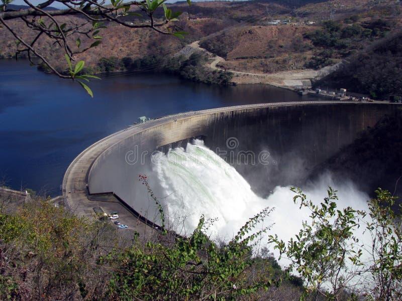 Barrage Zimbabwe de Kariba photographie stock libre de droits