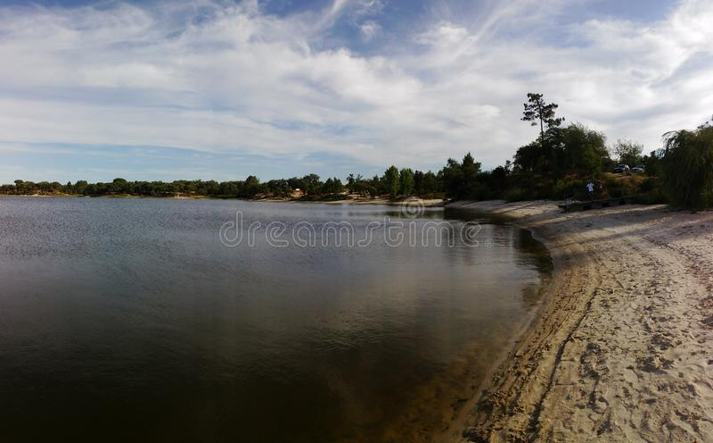 Barragem DE Magos - dam stock afbeelding