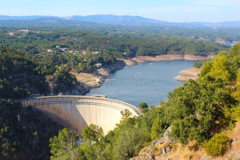 Barragem do Cabril στοκ φωτογραφία