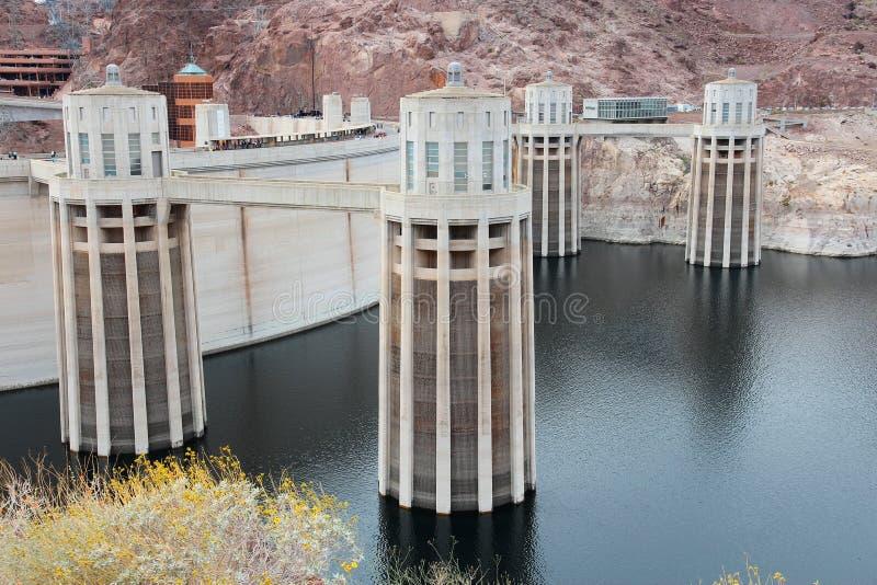 Barragem Hoover, o Arizona fotografia de stock