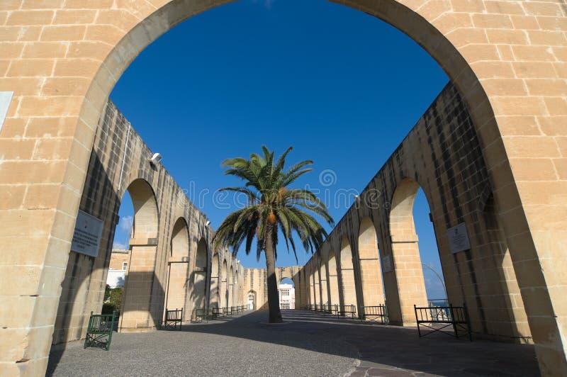 barrakka садовничает более низкий malta valletta стоковые изображения