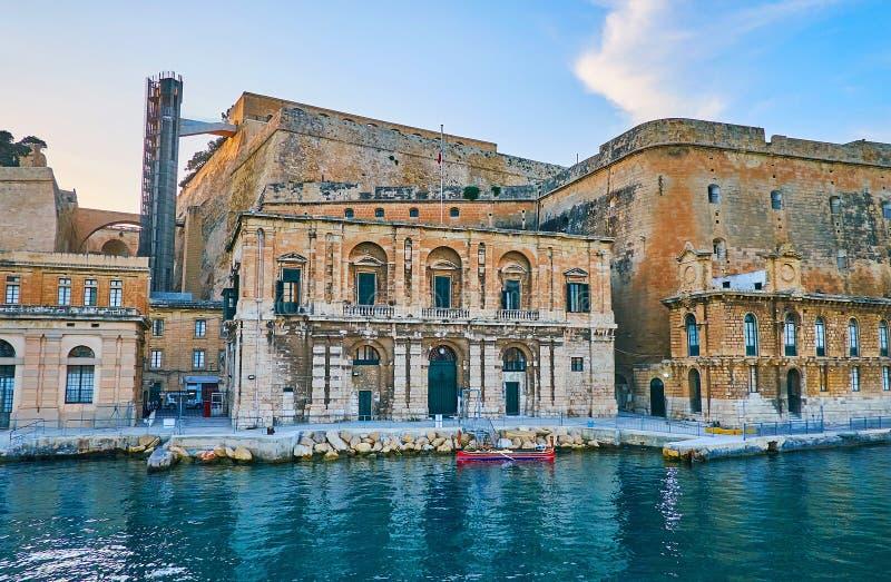 Barrakka dźwignięcie w Valletta, Malta zdjęcie royalty free