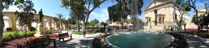 Barrakka Gardens in Valletta, Malta stock photo