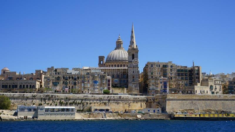 barrakka uprawia ogródek Malta wierzch obrazy royalty free