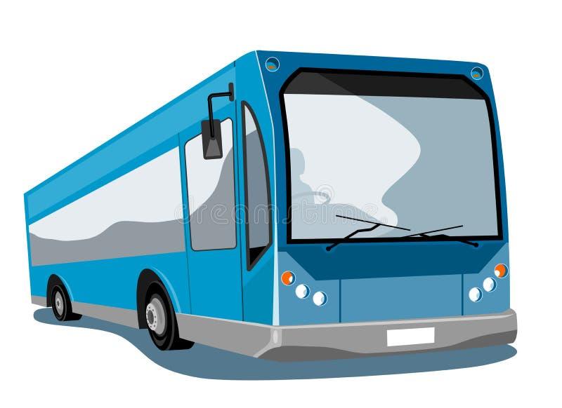 Barramento azul do ônibus ilustração stock