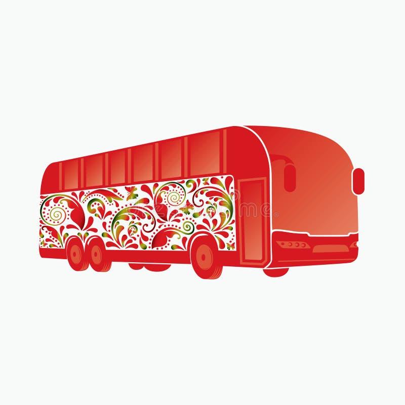 Barramento bonito do ônibus. ilustração royalty free
