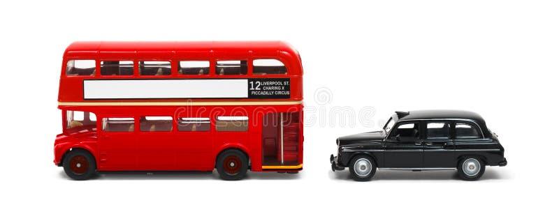 Barramento e táxi de Londres foto de stock