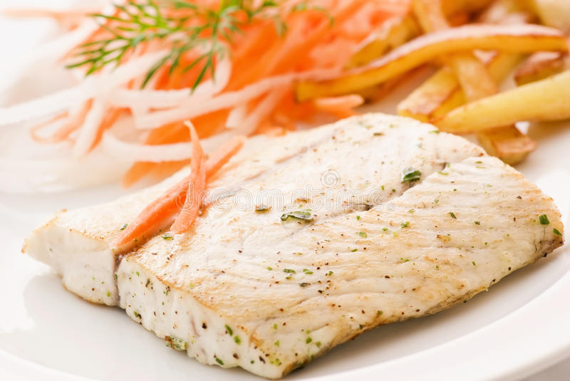 Download Barramundi Filet With Chips Stock Images - Image: 15197844
