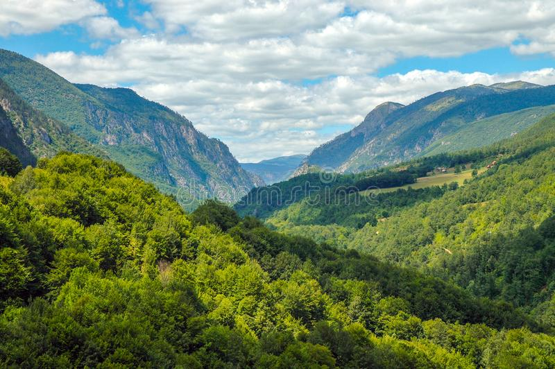 Barranca de Tara, Montenegro foto de archivo