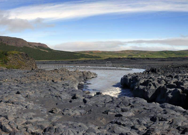 Barranca del basalto fotos de archivo