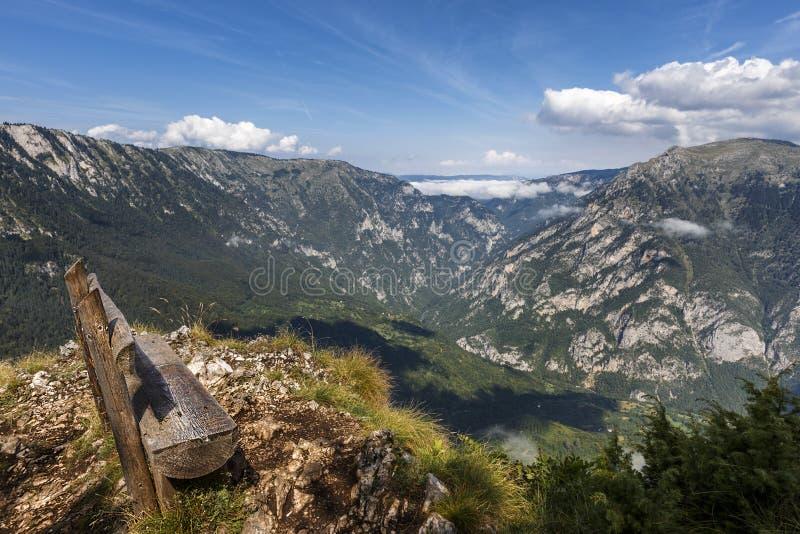 Barranca del río de Tara en las montañas de Montenegro fotografía de archivo