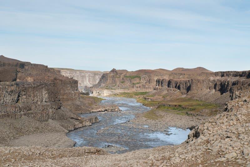 Barranca en Islandia fotos de archivo