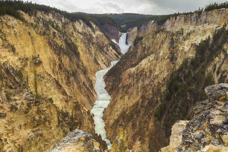 Barranca magnífica de Yellowstone fotos de archivo libres de regalías