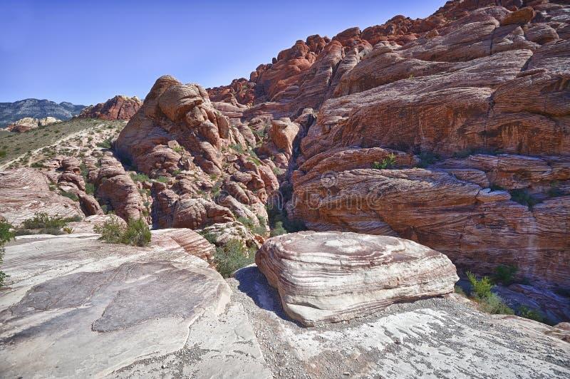 Barranca roja de la roca fotografía de archivo libre de regalías