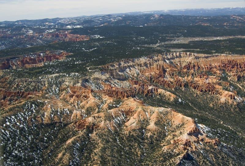 Barranco de Bryce - visión aérea imagenes de archivo