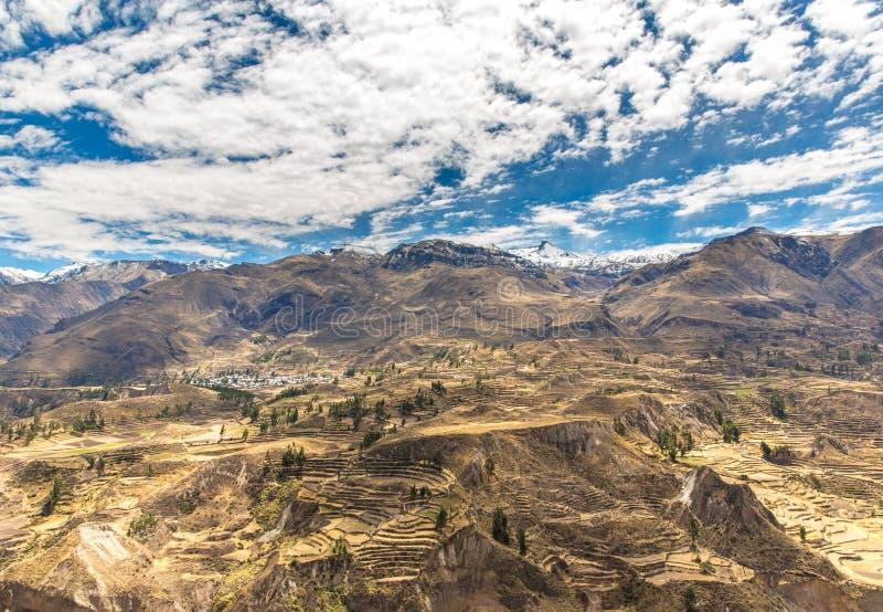 Barranco De Colca Perú Suramérica Los Incas Para