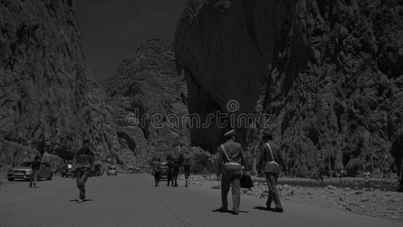 Barranco de la garganta de Todgha, montañas de atlas imágenes de archivo libres de regalías