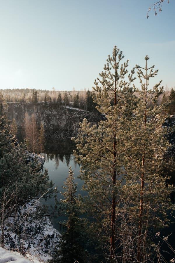 Barranco de mármol en invierno fotografía de archivo libre de regalías