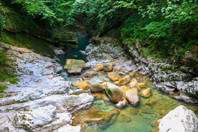 Barranco de Martvili en Georgia foto de archivo