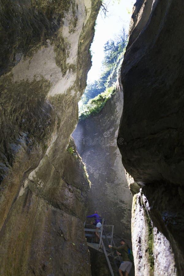 Barranco de siete escaleras de la yegua de Piatra imagen de archivo libre de regalías