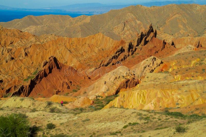 Barranco de Skazka en Kirguistán fotografía de archivo libre de regalías