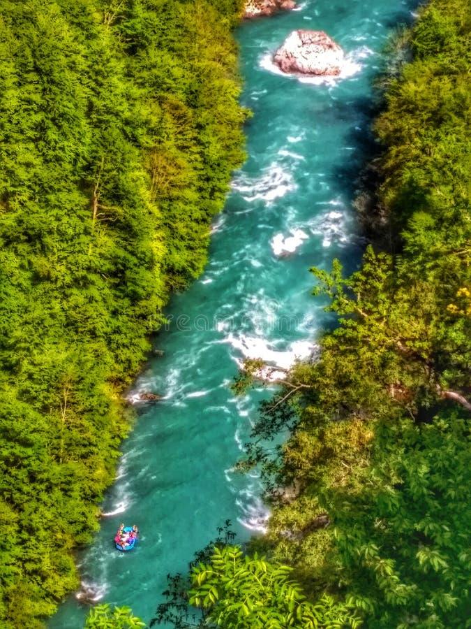 Barranco de Tara que sorprende en Montenegro imagenes de archivo