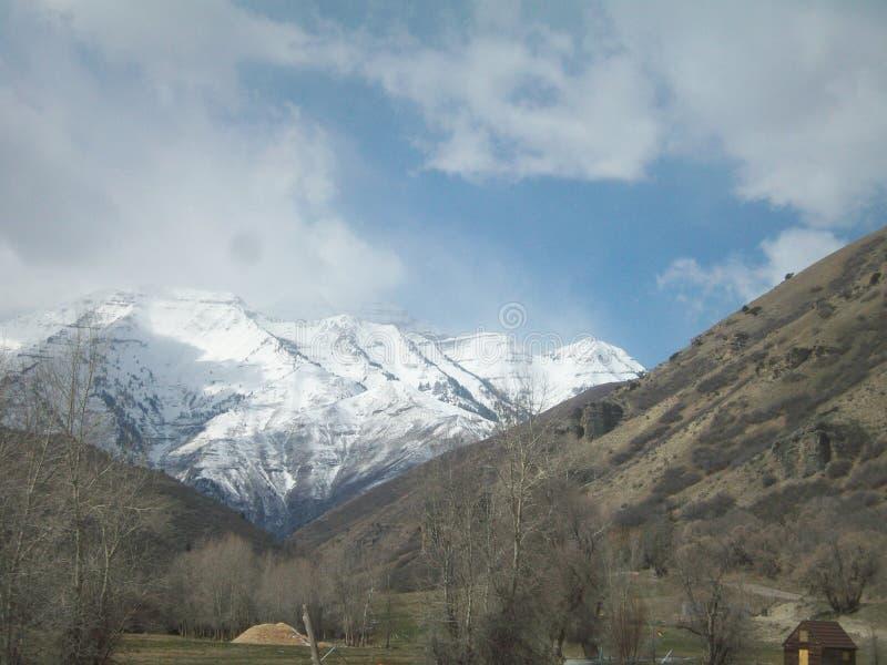 Barranco de Utah con nieve del invierno fotos de archivo