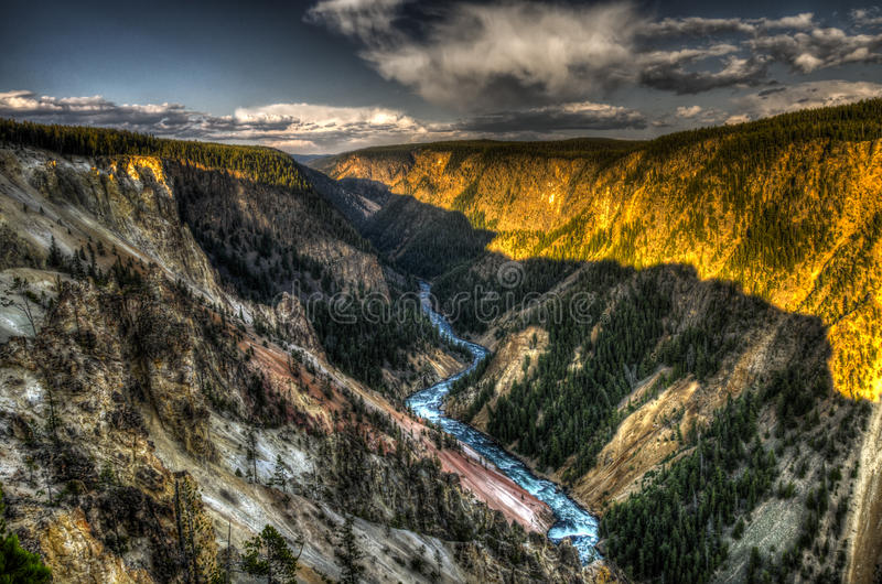 Barranco de Yellowstone fotografía de archivo