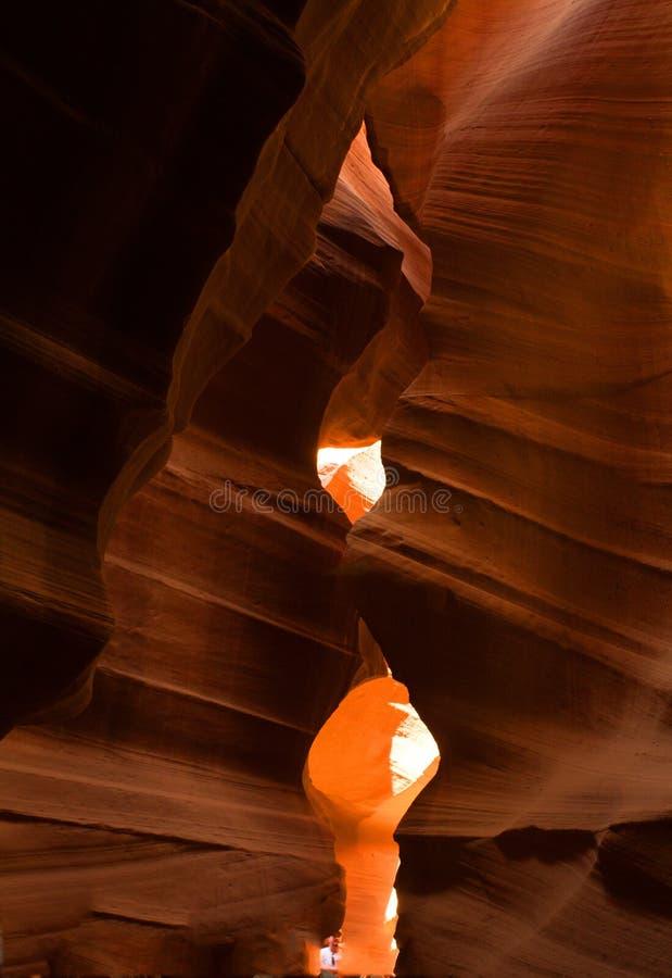 Barranco del antílope una ojeada una cueva del abucheo fotografía de archivo libre de regalías