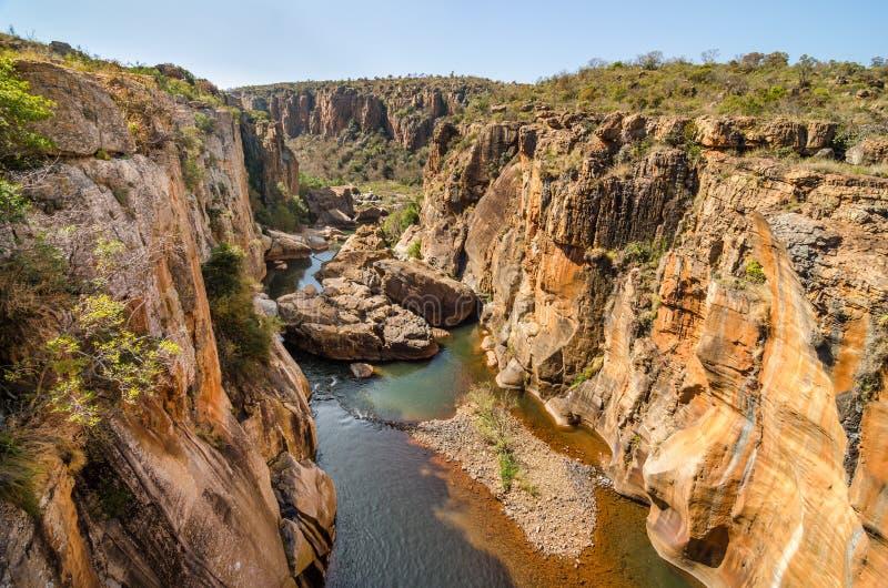 Barranco del río de Blyde desde arriba cerca de Graskop - Mpumalanga Suráfrica fotos de archivo libres de regalías