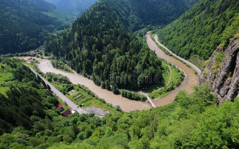 Barranco del río de Mures en Transilvania fotografía de archivo