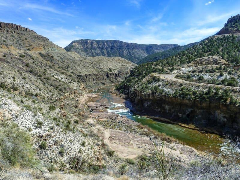 Barranco del río Salt imagen de archivo