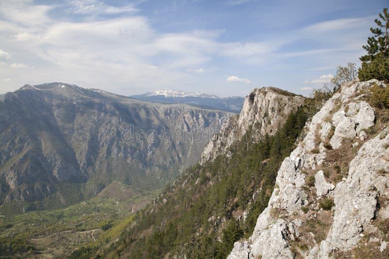 Barranco del río Tara, Montenegro imagen de archivo libre de regalías