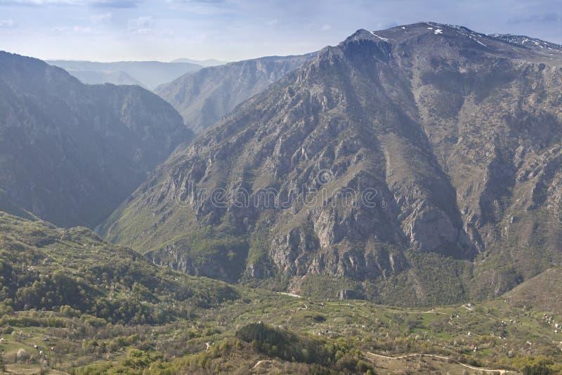 Barranco del río Tara, Montenegro foto de archivo