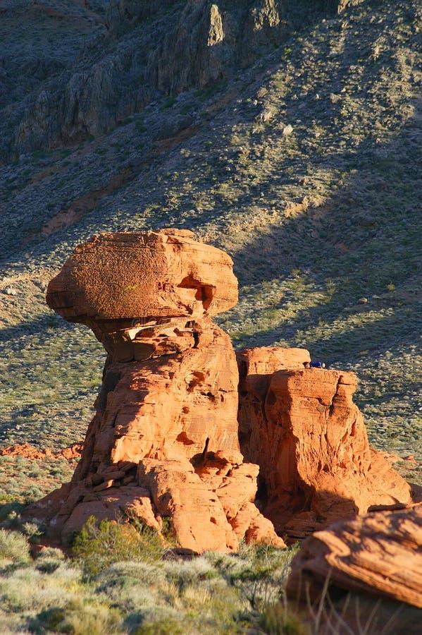 Barranco rojo de la roca imagen de archivo