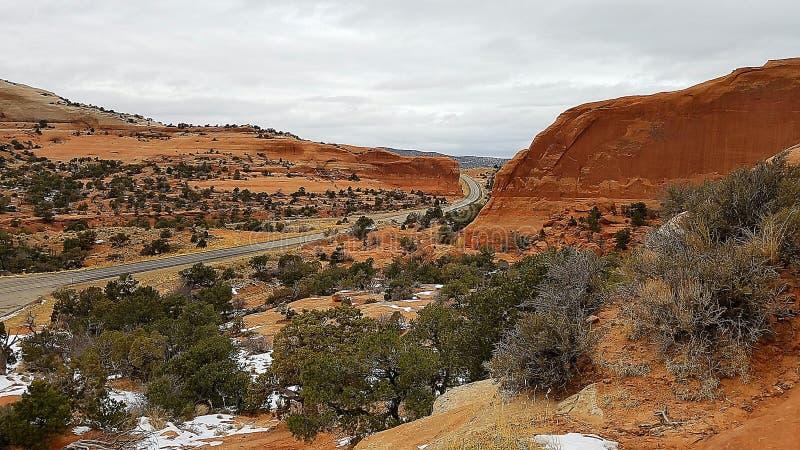 Barranco rojo de la roca de Utah fotografía de archivo