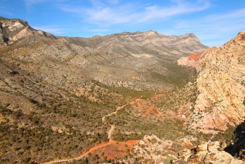 Barranco rojo Nevada de la roca foto de archivo
