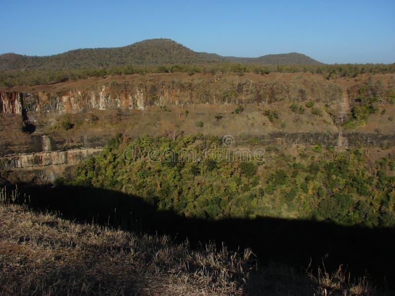 Barranco seco Indore de Gidhiya Kho Watefall imagenes de archivo