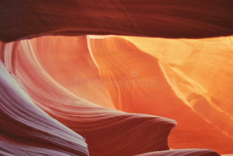 Barranco superior del antílope, Arizona, los E.E.U.U. imágenes de archivo libres de regalías
