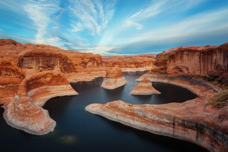 Barranco Utah de la reflexión imágenes de archivo libres de regalías