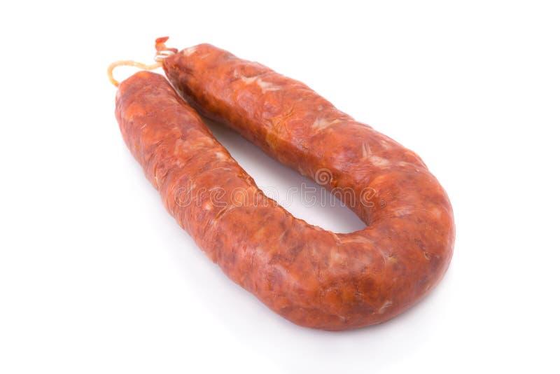 barrancos加调料的口利左香肠古西班牙人 图库摄影