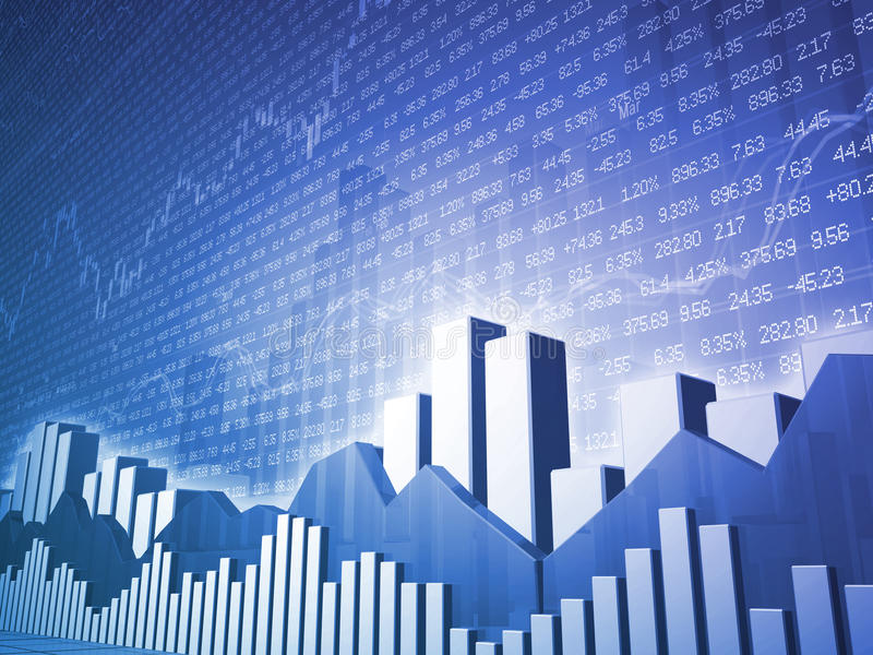 Barras & cartas do mercado de valores de acção do baixo ângulo
