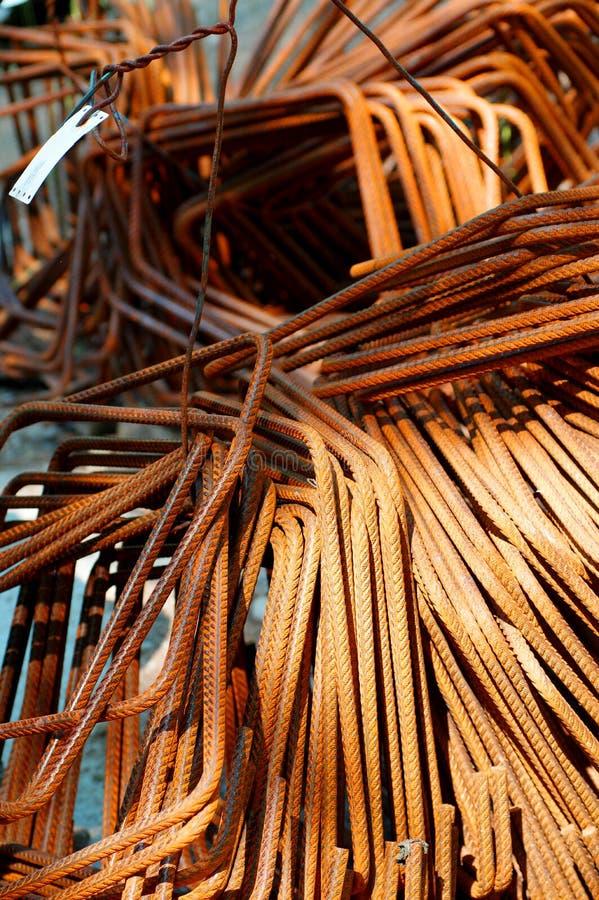 Barras de aço foto de stock