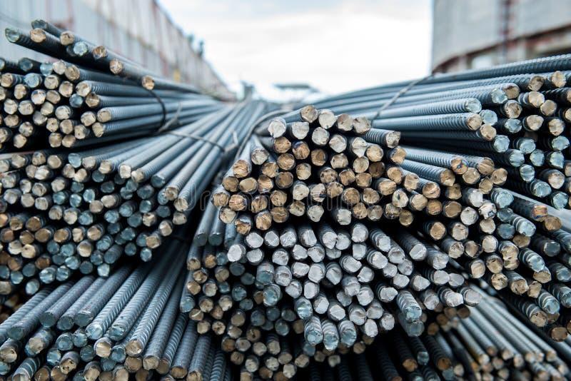 Barras de aço imagem de stock