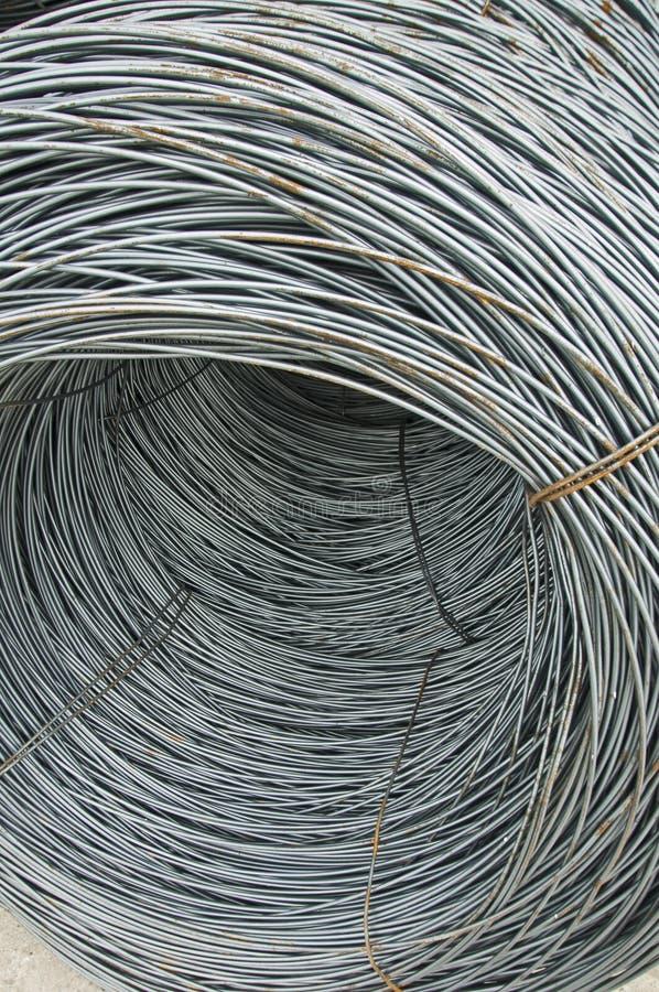 Barras de aço de reforço foto de stock