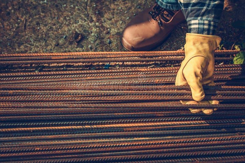 Barras de aço do reforço foto de stock royalty free