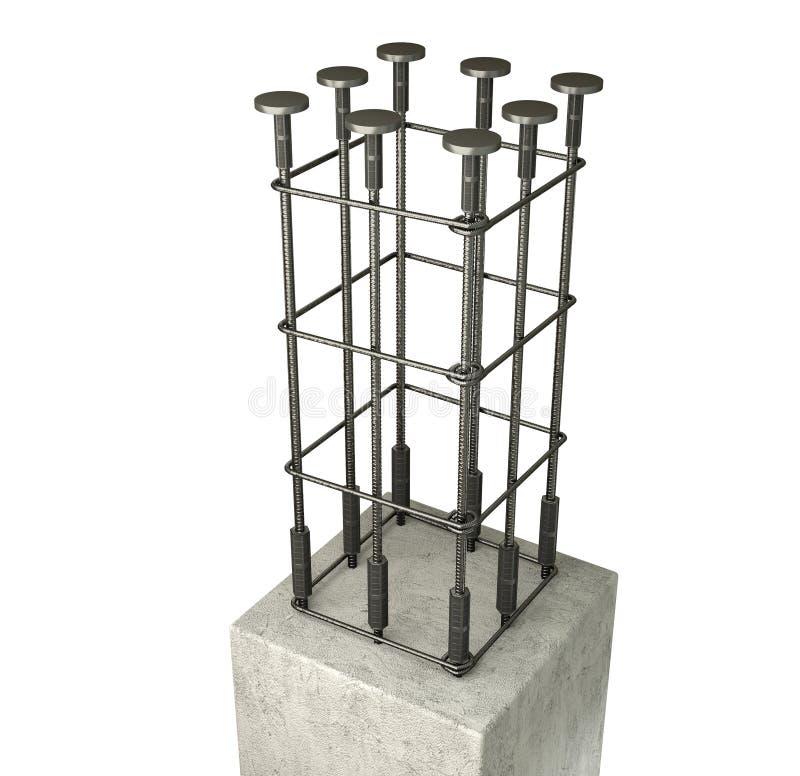Barras de aço reforçadas fotografia de stock
