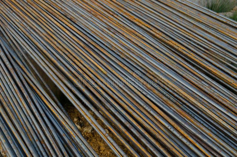 Barras de acero foto de archivo libre de regalías